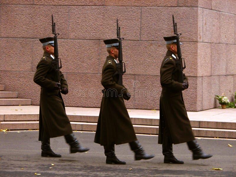 Guerriers en service image libre de droits