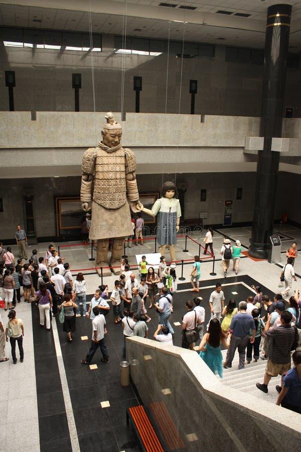 Guerriers musée, Xian de terre cuite image libre de droits