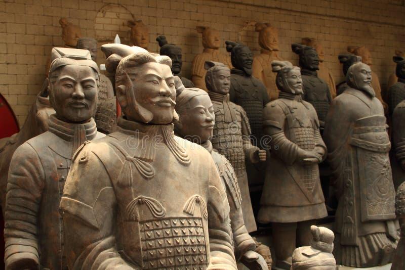 Guerriers Xi& x27 de terre cuite ; la Chine photo libre de droits