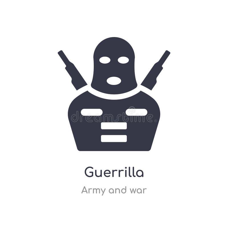 guerrilla ikona odosobnionej guerrilla ikony wektorowa ilustracja od wojska i wojny kolekcji editable ?piewa symbol mo?e by? u?yw royalty ilustracja