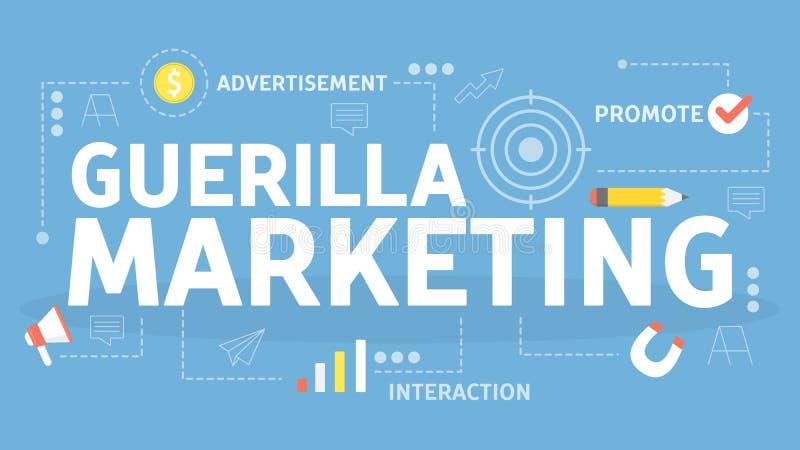 Guerrilla pojęcia marketingowa ilustracja Korporacyjnego biznesu promocja royalty ilustracja