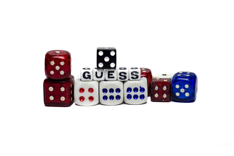 Download Guess with Dices stock image. Image of choose, mark, business - 32914201