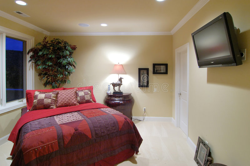 Download Guest Bedroom2 stock photo. Image of plasma, picture, carpet - 991198