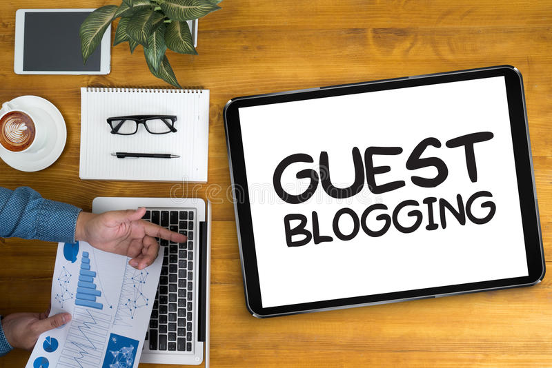 GUEST BLOGGING royalty free stock images