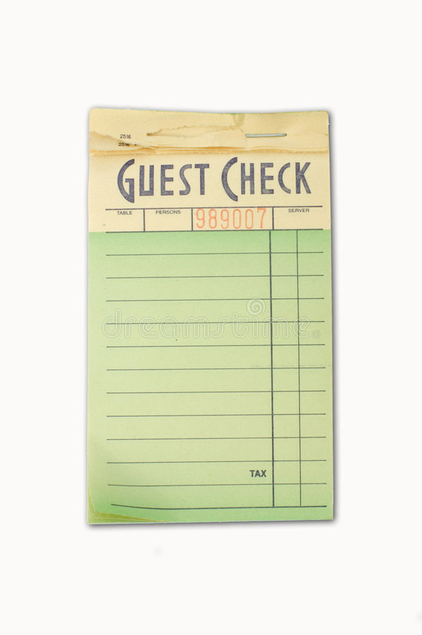 Guest check pad royalty free stock photography