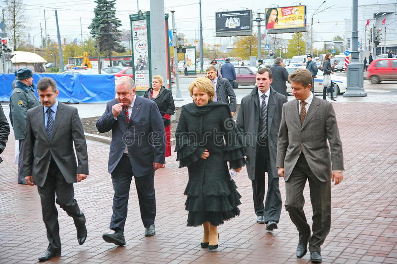 The guest of honor. Valentina Matvienko, one of the most famous contemporary female politicians. royalty free stock photography