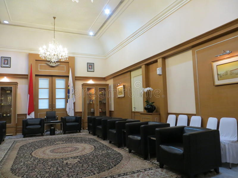 Guest room at Jakarta City Hall. JAKARTA, INDONESIA - April 30, 2017: Guest room at Jakarta City Hall stock photography