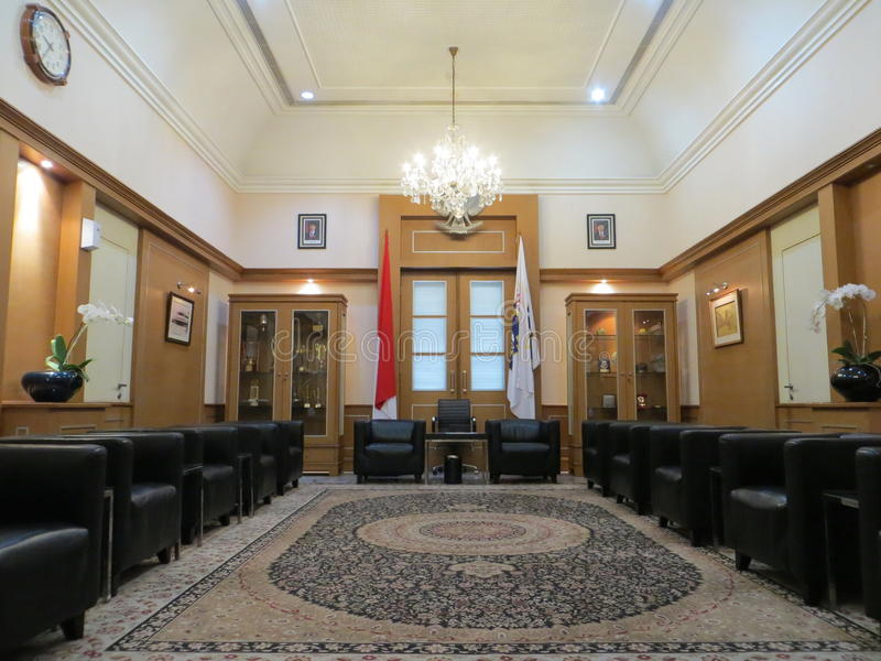 Guest room at Jakarta City Hall. JAKARTA, INDONESIA - April 30, 2017: Guest room at Jakarta City Hall royalty free stock photo