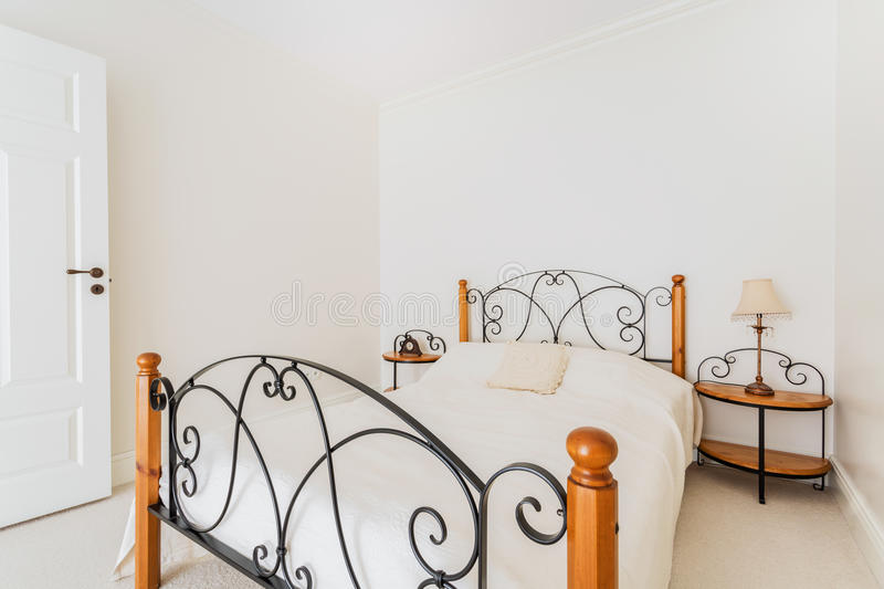 Guest-room in luxurious house. Photo of a luxurious and stylish guest-room for visitors stock images