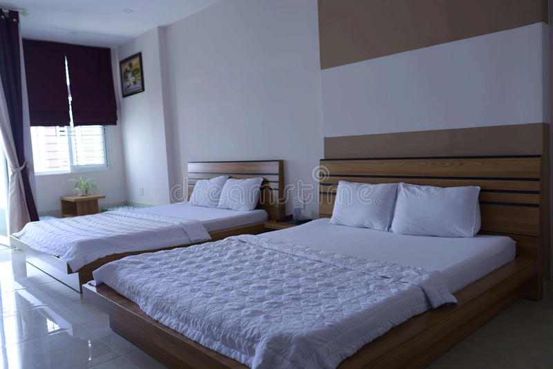 The guest rooms. Nha trang hotel rooms, health, capacious and bright stock photos