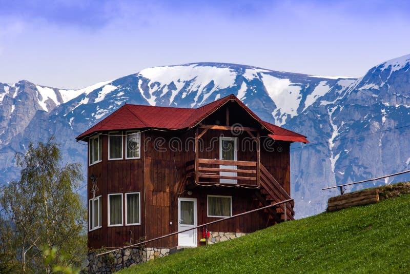 Guesthouse in Moieciu de Sus. Village, Brasov, Romania stock photography