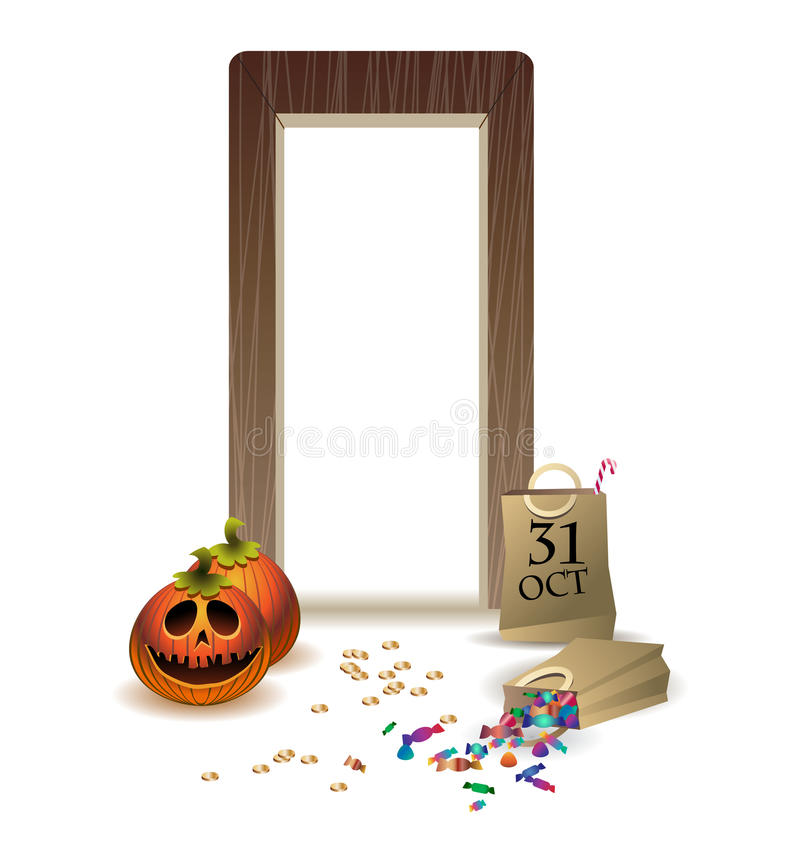 Download In Guests On Happy Halloween. Stock Image - Image: 26523541