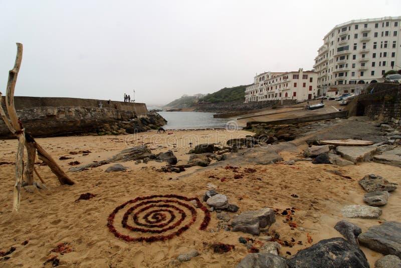Guethary Pays Basque français photographie stock libre de droits