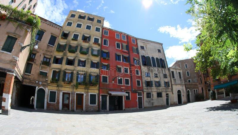 Gueto judaico em Veneza em Itália fotos de stock