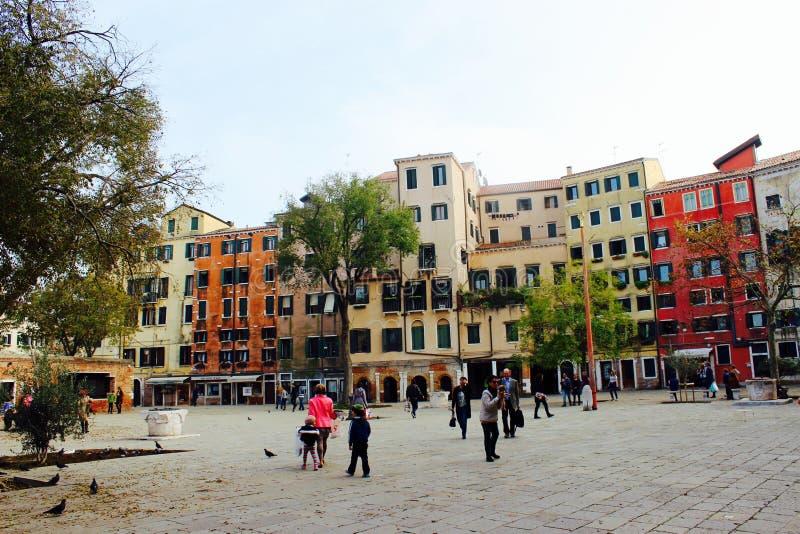 Gueto velho em Veneza fotografia de stock royalty free