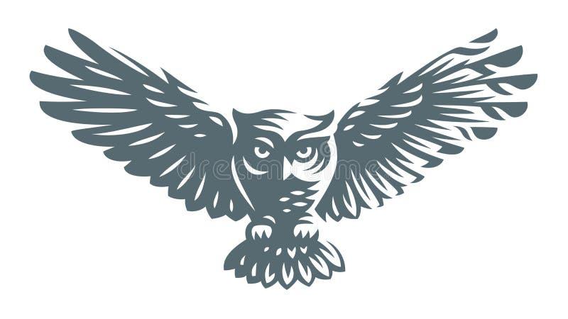 Gufo - illustrazione di vettore Progettazione dell'icona illustrazione di stock