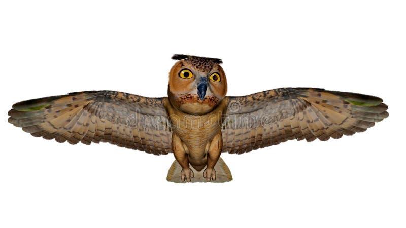 Download Gufo reale - 3D rendono illustrazione di stock. Illustrazione di gufo - 55362439