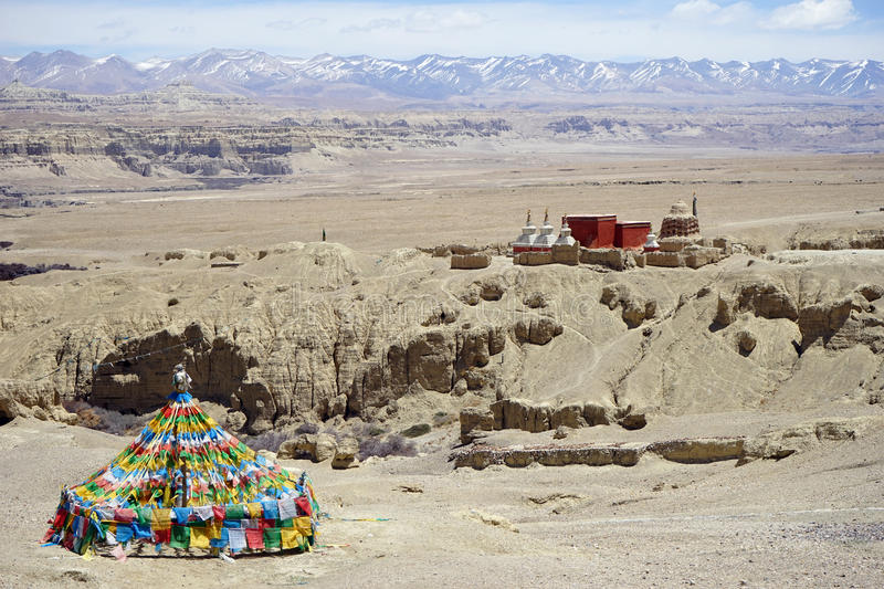 Guge kingdom. In West Tibet, China royalty free stock photos