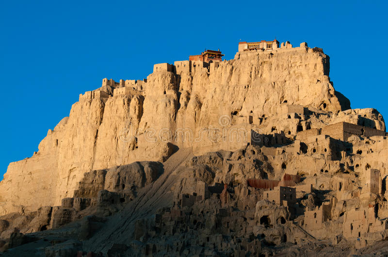 Guge Palace. Tibet Ali Guge palace ruins royalty free stock photography