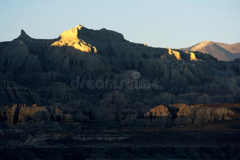 Landscape of Guge. Guge was an ancient kingdom in Western Tibet. The kingdom was centered in present-day Zanda County, Ngari Prefecture, Tibet Autonomous Region stock photos