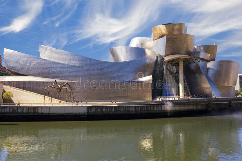 Guggenheim Bilbao Museum Next To The Nervion River Editorial Stock Photo