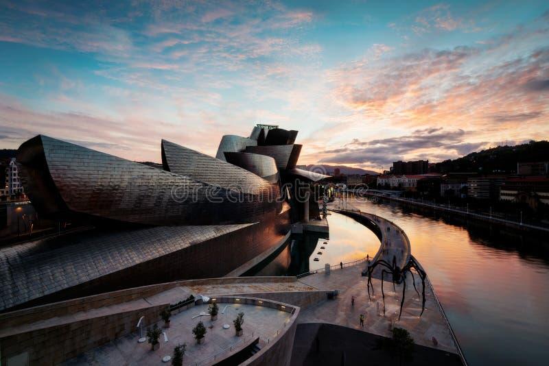 Guggenheim Bilbao Spanien royaltyfri bild