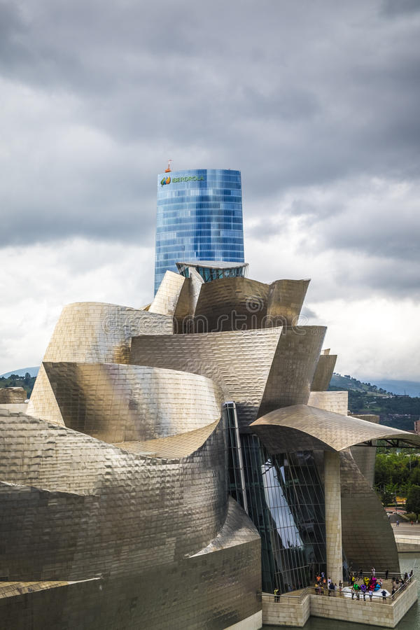 Download Guggenheim Museum By The Architect Frank Gehry In Bilbao Editorial  Stock Photo - Image: