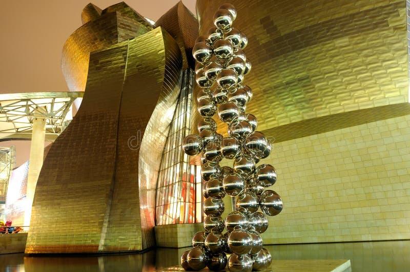 The Guggenheim Museum in Bilbao stock photography