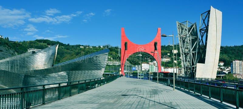 Guggenheim Museum in Bilbao, Spanien lizenzfreies stockfoto