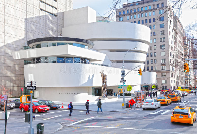 Guggenheim museum, New York City. The Solomon R. Guggenheim museum is located on Fifth Avenue, New York City