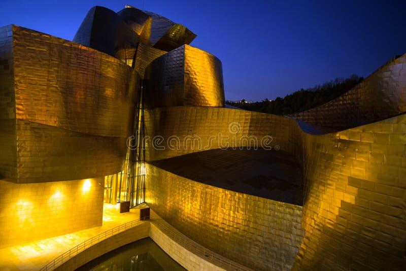 Guggenheim museum på Bilbao royaltyfria bilder