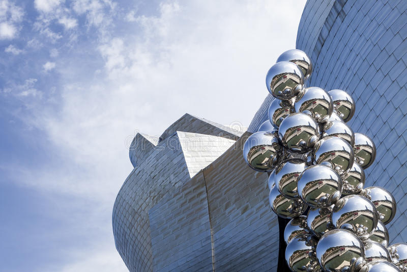 Guggenheim museum. Part of the Guggenheim museum, Bilbao, Spain royalty free stock images
