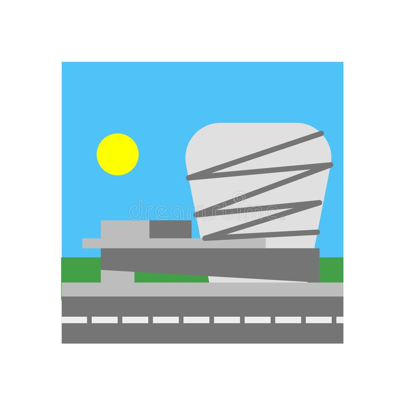 Guggenheim muzeum ikony wektoru znak i symbol odizolowywający na bielu royalty ilustracja