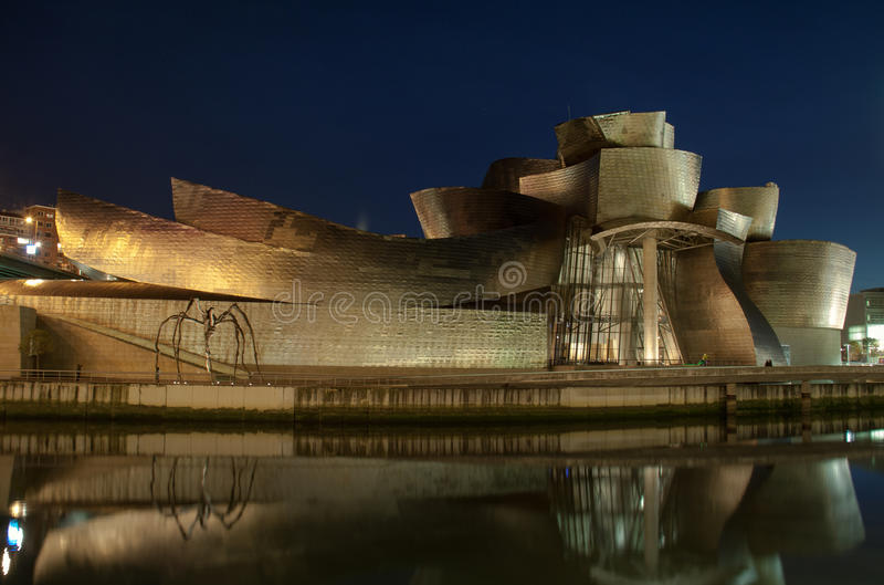 Guggenheim At Night Editorial Photography