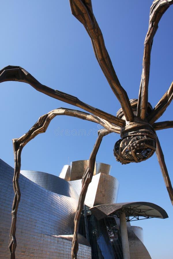 Guggenheim and spider stock photo