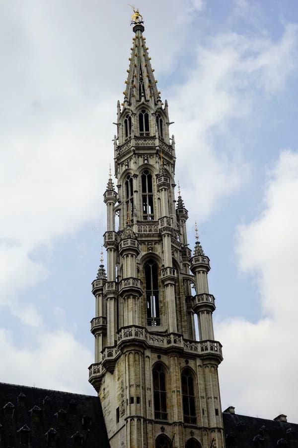 Guglia della chiesa, Bruxelles, Belgio fotografia stock libera da diritti