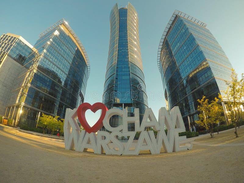 Guglia di Varsavia fotografie stock libere da diritti