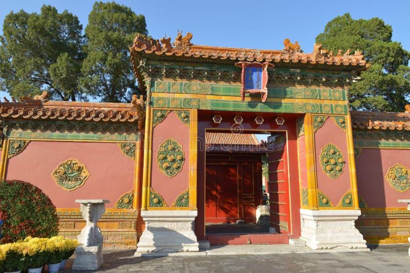 GuGong & x28; Forbidden City & x29; i Peking Kina royaltyfri bild