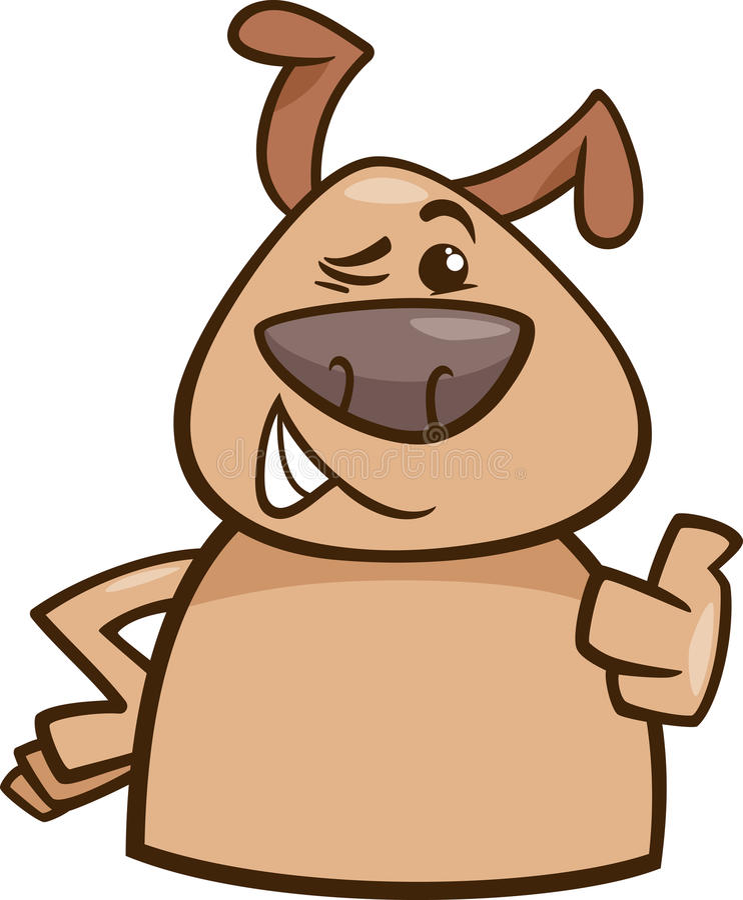 Download Guiño Del Ejemplo De La Historieta Del Perro Ilustración del Vector - Ilustración de ilustración, divertido: 44857425