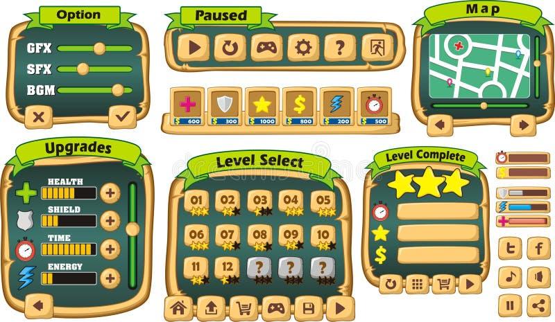 Gui 3 παιχνιδιών διανυσματική απεικόνιση