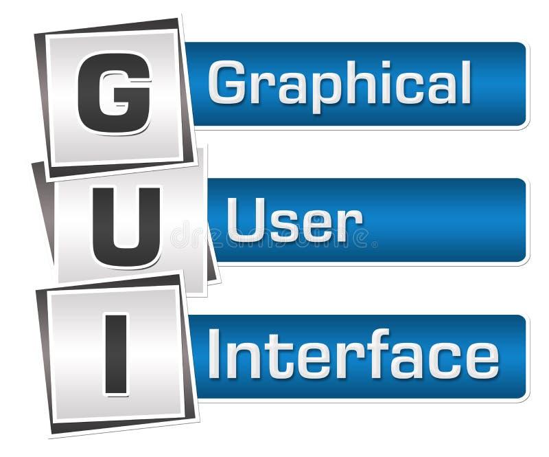 GUI - Blu Grey Squares Vertical dell'interfaccia grafica royalty illustrazione gratis