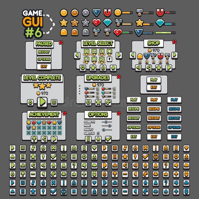 GUI 6 de jeu illustration de vecteur