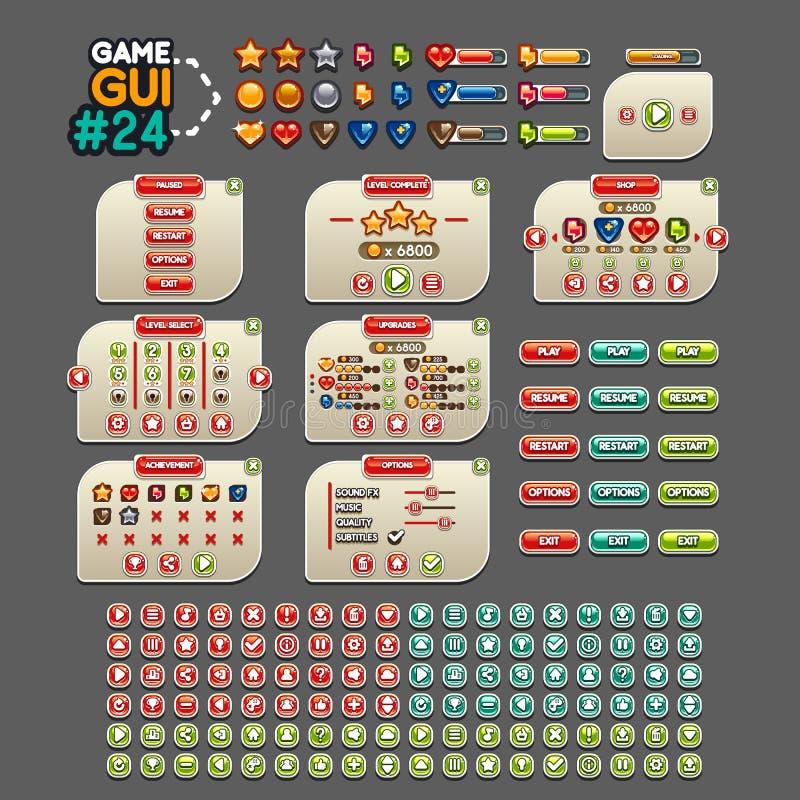 GUI #24 de jeu illustration libre de droits