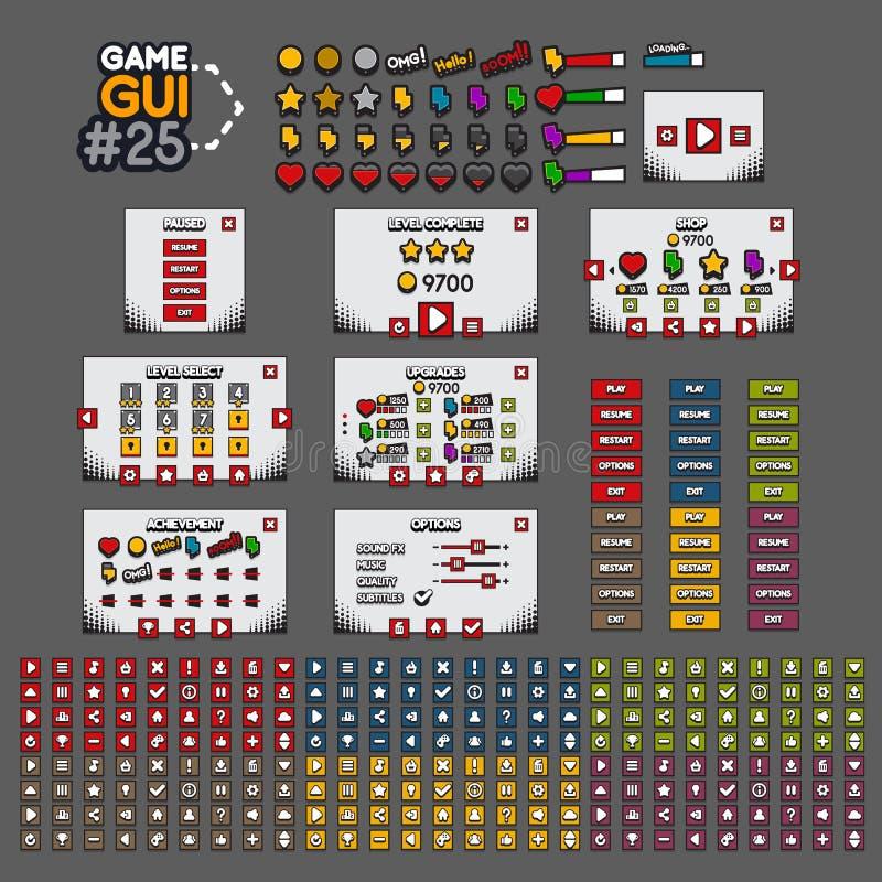 GUI #25 de jeu illustration stock