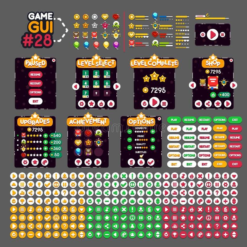 GUI #28 de jeu illustration de vecteur