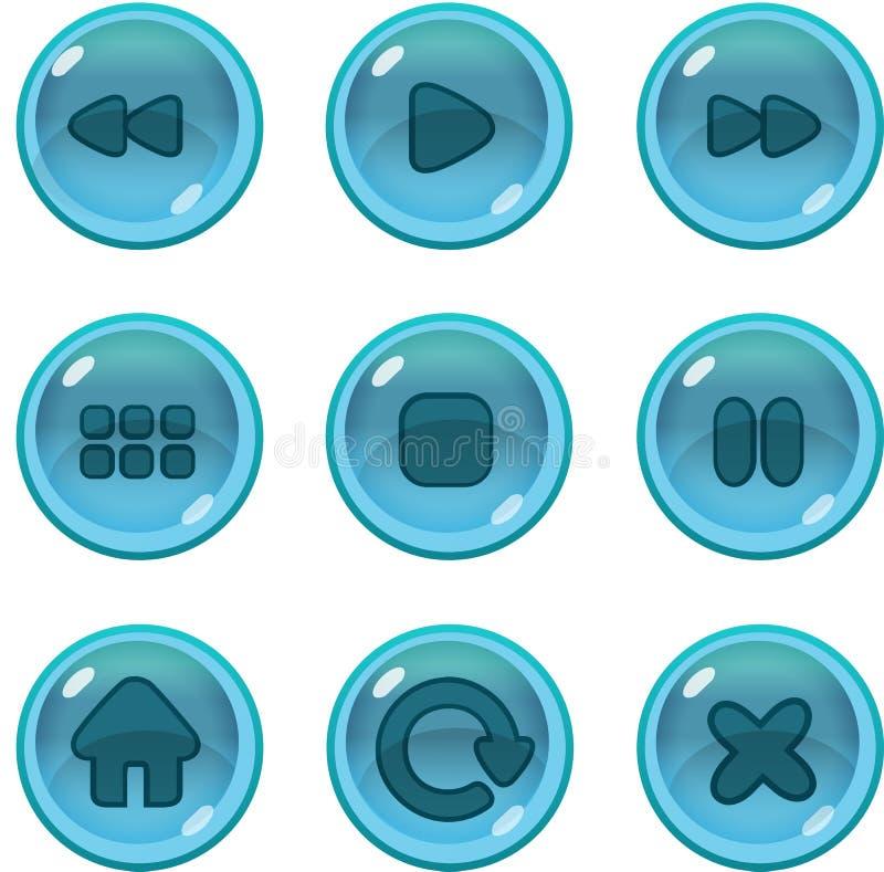 GUI dos ícones do jogo UI ilustração stock
