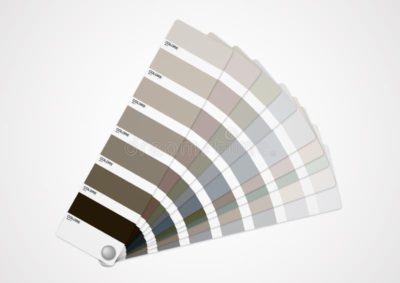 Guia cinzento das cores ilustração royalty free