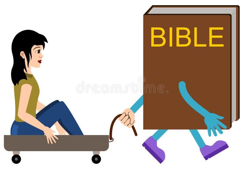 Guia da Bíblia ilustração do vetor