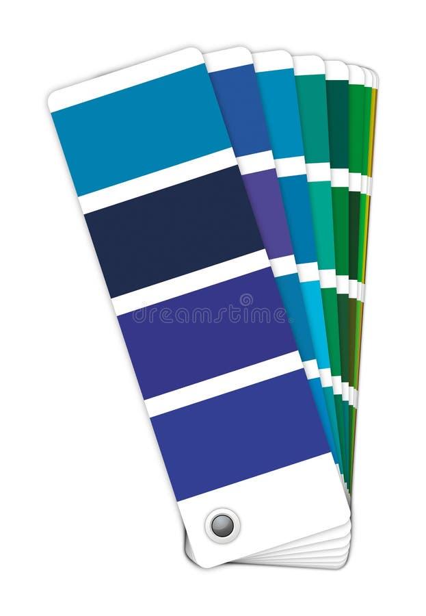 Guia da cor - azul a bronzear ilustração stock