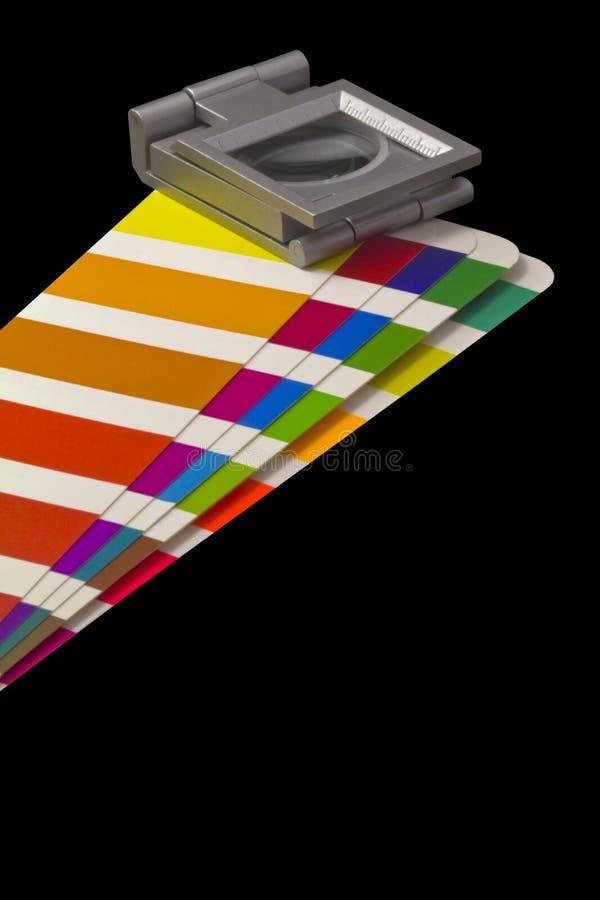 Guia da cor para a cópia do offset no blackground preto imagem de stock royalty free